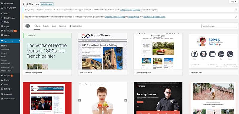 Mengubah Tampilan WordPress Themes Terbaru